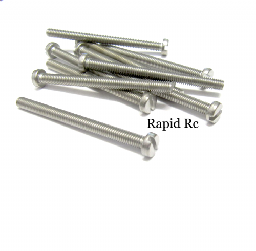 M4 x 50mm Stainless Steel Slotted Machine Screw